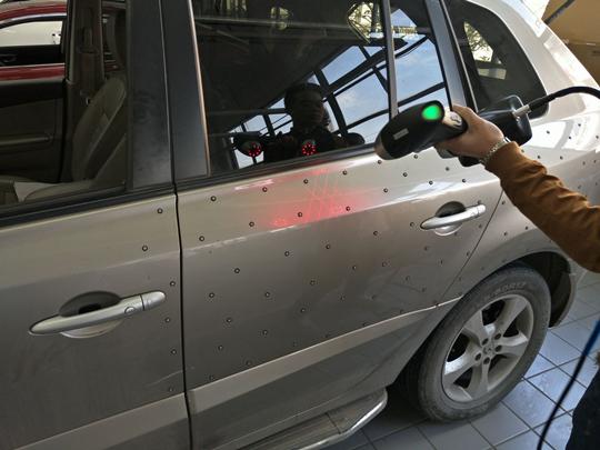 3D scanning the standard car