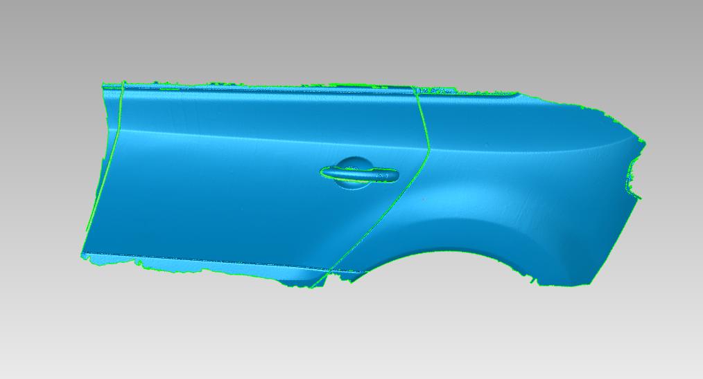 Stl 3D data of damaged car