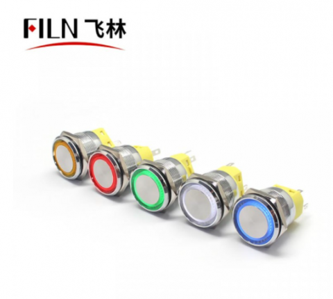 25MM 10A Waterproof Metal 24V Push Button Switch