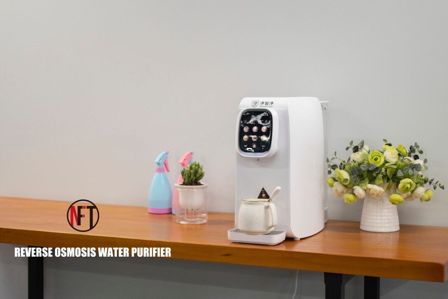 Household direct drinking heating integrated machine with counter tap water reverse osmosis purifier