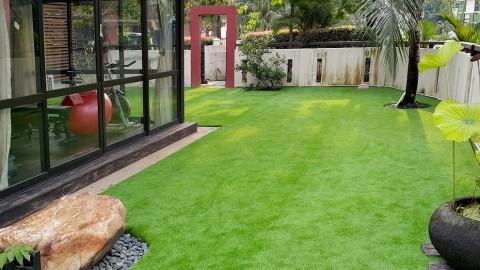 Artificial turf in secret garden, you deserve it!
