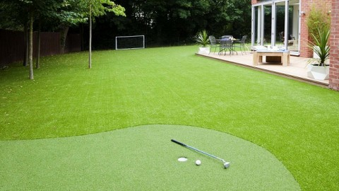 Wow, now we have backyard putting greens!