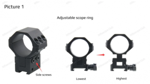 HOW TO RESOLVE SCOPE ELEVATION NOT ENOUGH FOR YOUR .22 LR OR AIRGUN? TRY THE ADJUSTABLE SCOPE RING.
