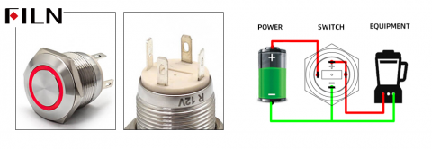 How to wire a push button switch?